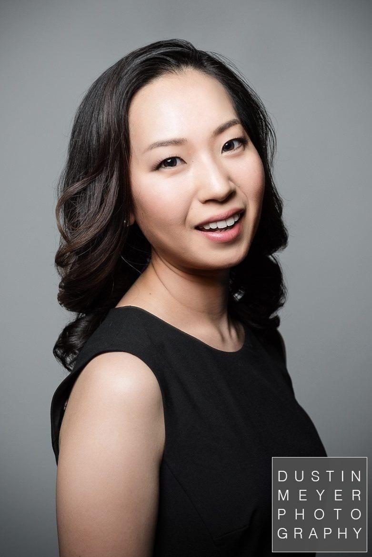 professional headshots for musicians, asian female model, outdoor headshot studio, austin, tx